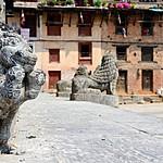 Ancient statues at Khokana
