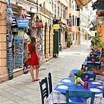 Wander the streets of Corfu town