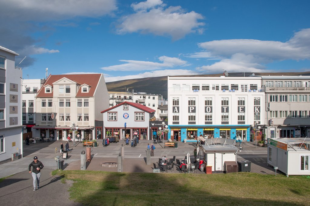 Explore the dining scene and shops of downtown Akureyri