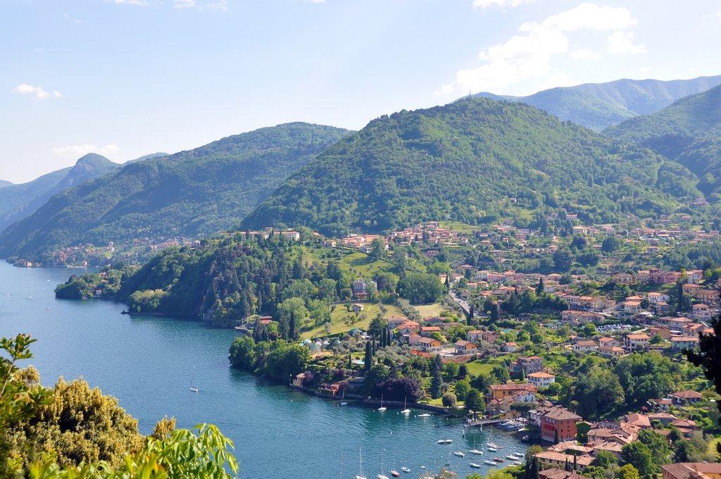Lake Como in the Italian Lakes District