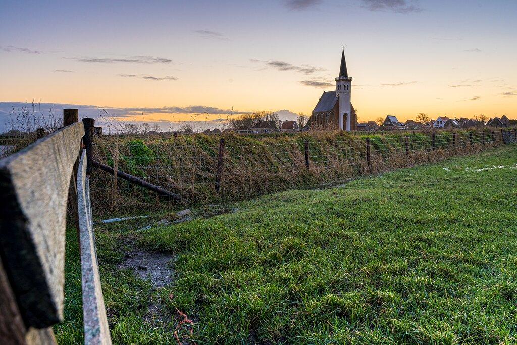 A picturesque church near Den Hoorn