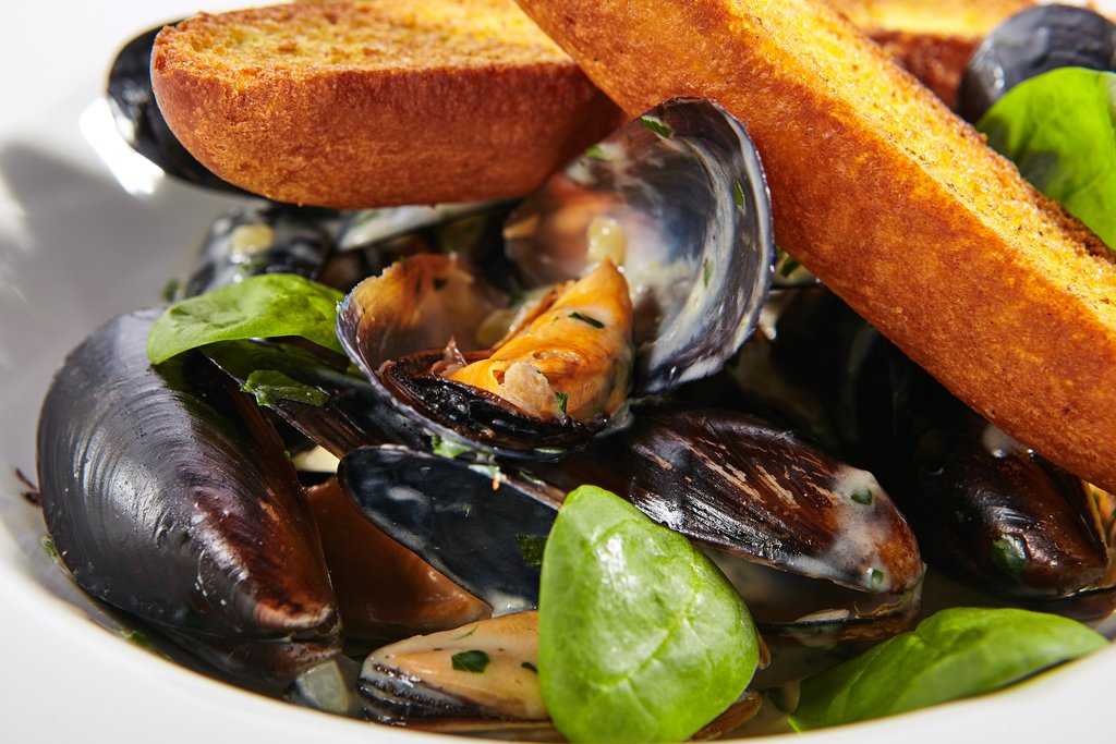 Traditional French seafood dish
