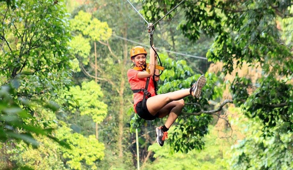 A fun zipline adventure