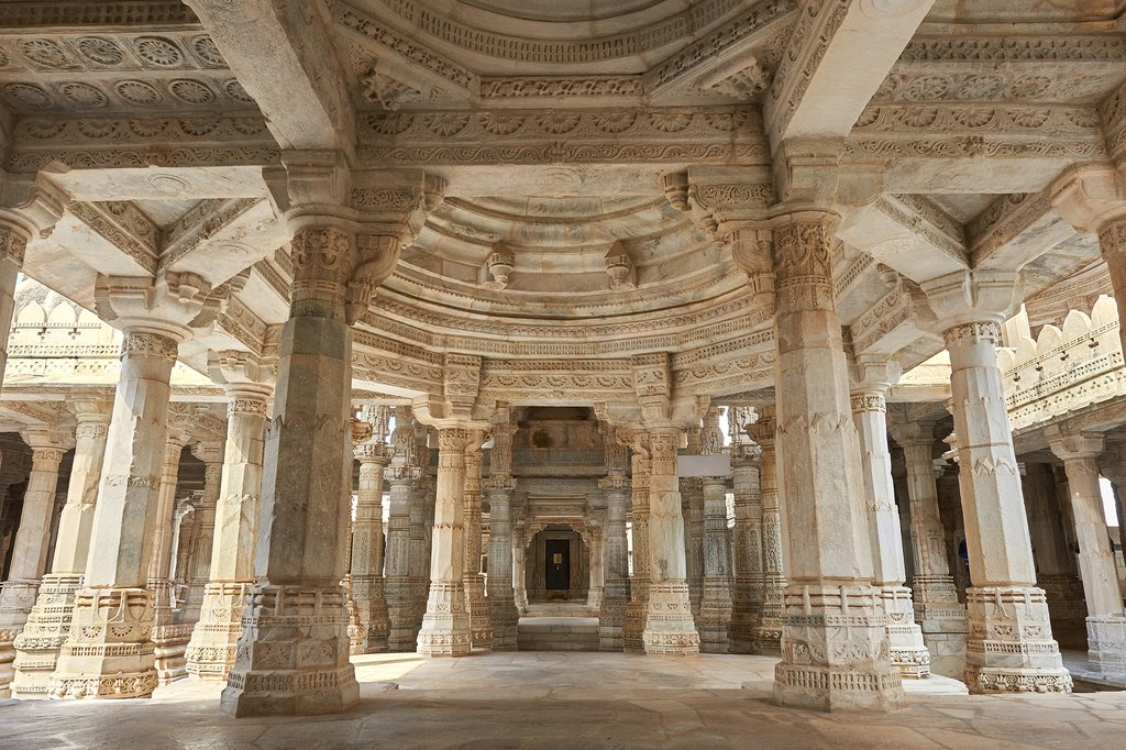 Explore the stunning Ranakpur Jain Temple as we make our way to Udaipur