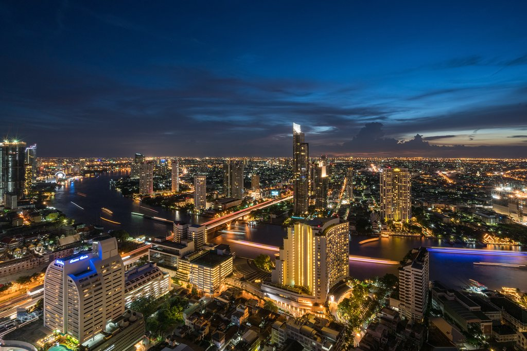 Bangkok City during night time