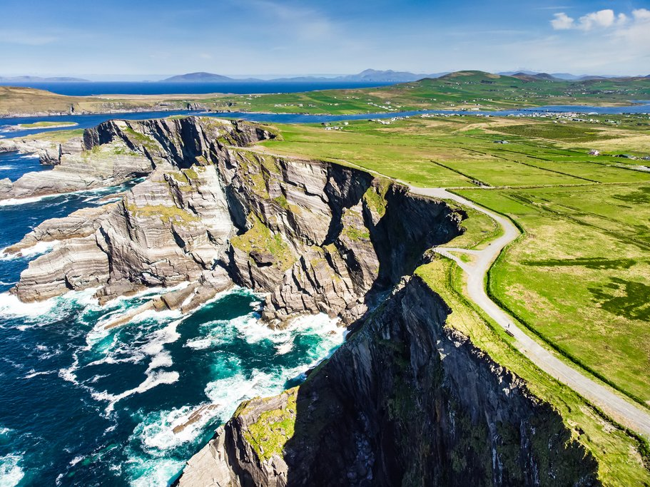 Kerry Cliffs, the most spectacular cliffs in County Kerry