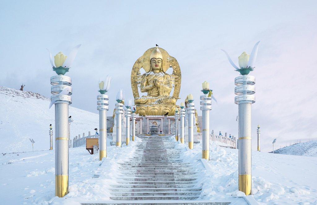 Statue of Buddha at Amarbayasgalant Monastery