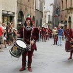 Performers at the Palio horse race