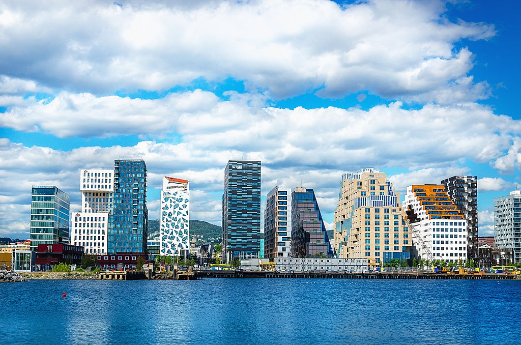 Modern waterfront architecture in Oslo