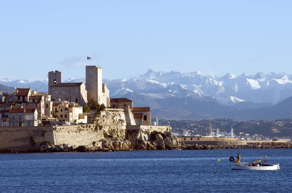 The beautiful seafront of Antibes