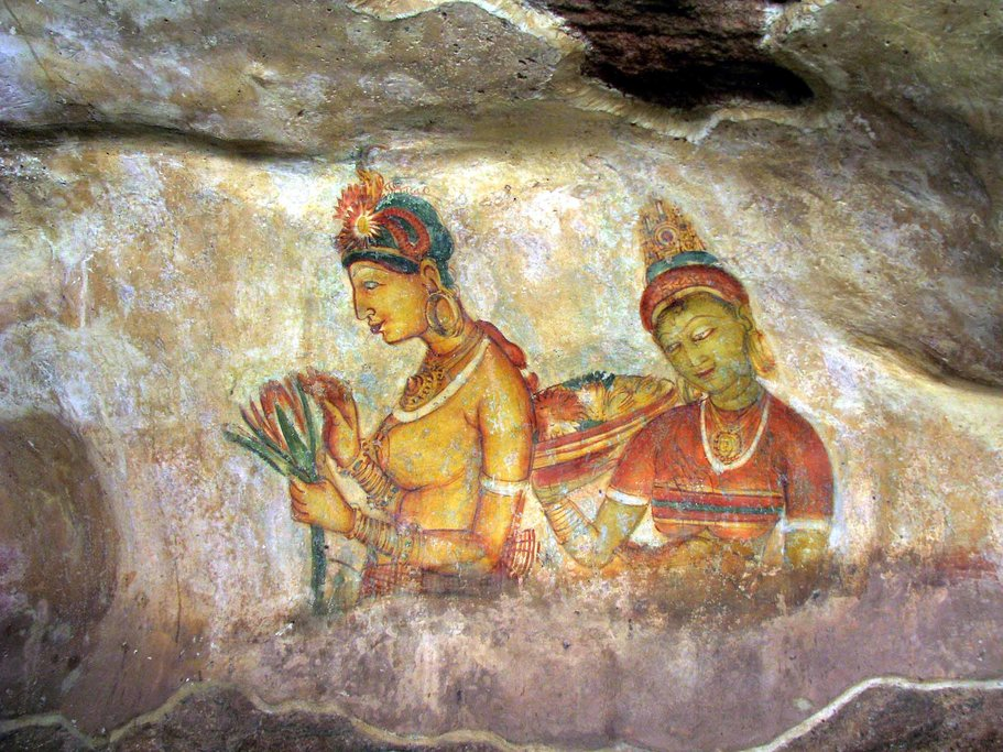 Frescos in Sigiriya