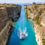 Passing through the Corinth Canal