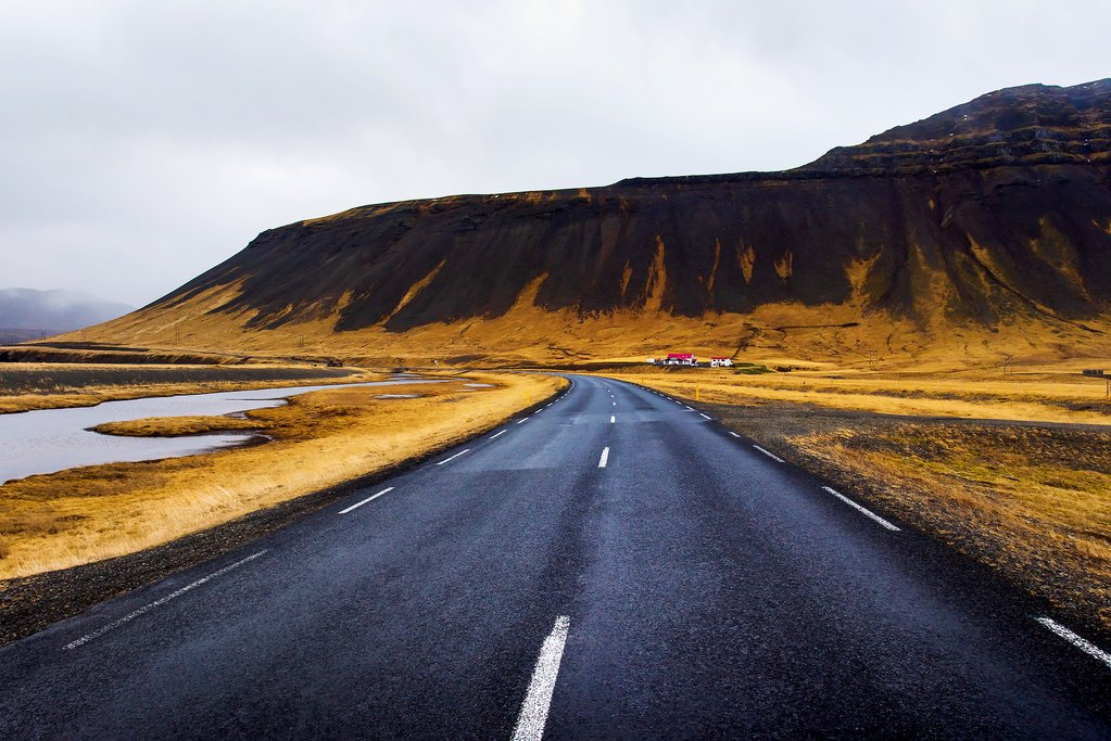 Scenic road on the Snæfellsnes Peninsula
