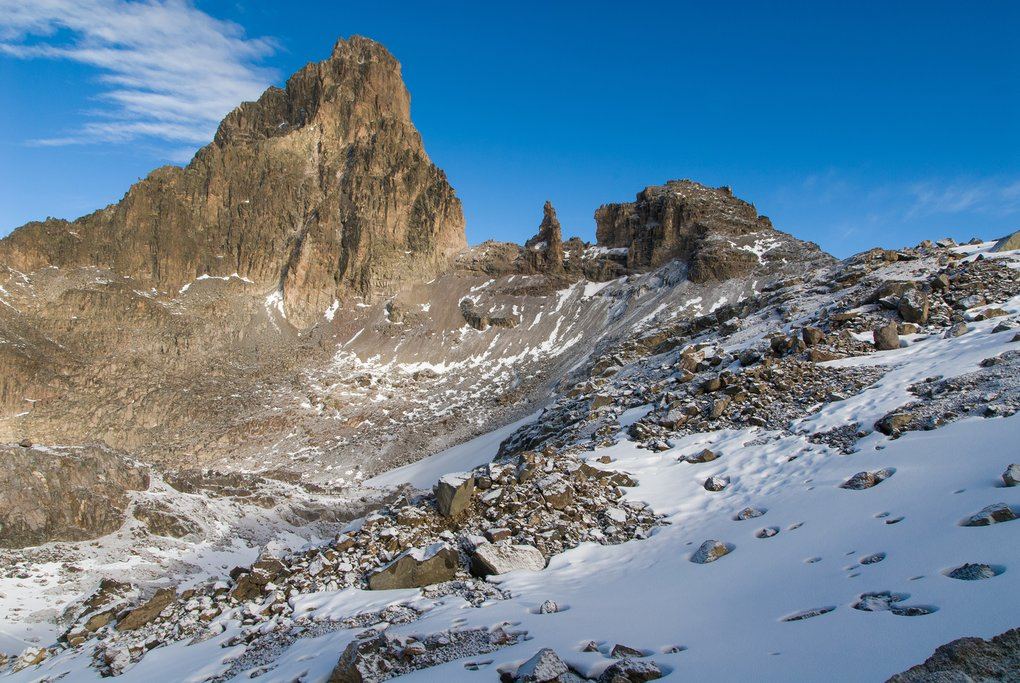 The summit of Mt. Kenya