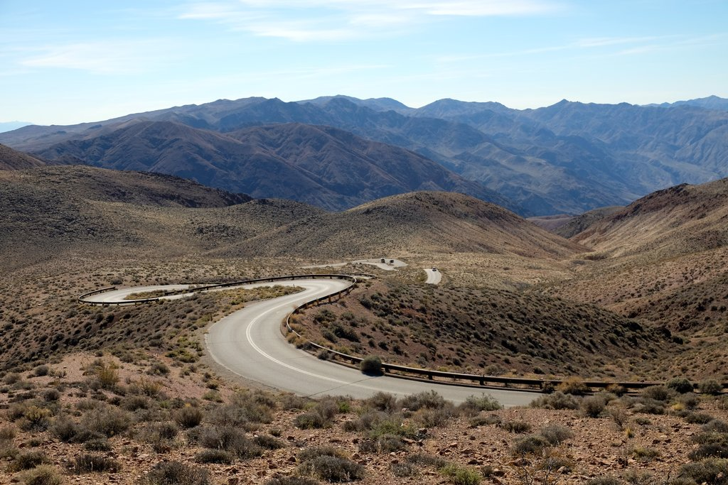 Enjoy the winding desert road as you work your way to Indian Wells