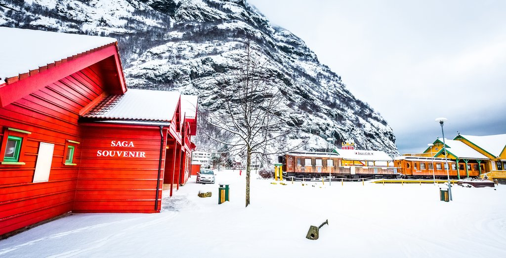 The Flåm Railway is famous for it's spectacular scenery all year round.
