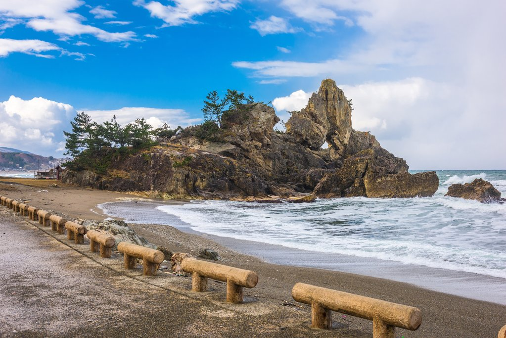 Madoiwa Rock in Wajima, Japan