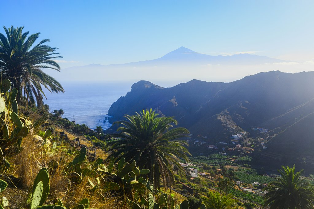 Views of Tenerife from La Gomera
