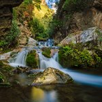 Small waterfalls lead to the bigger Cascades d'Akchour near Chefchaouen