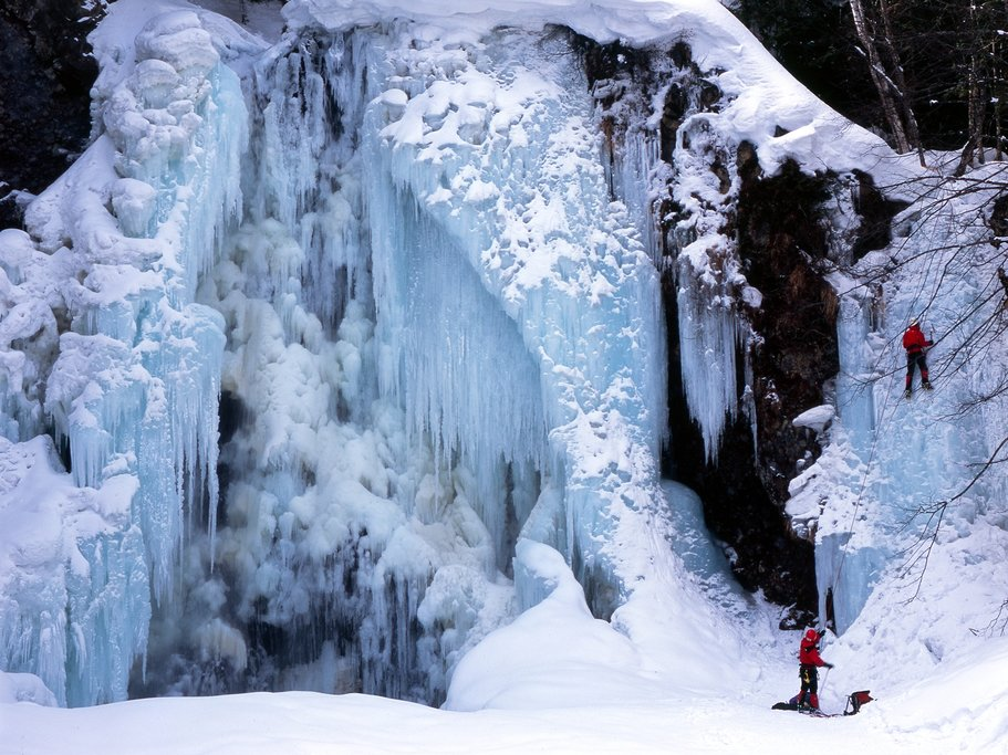 Frozen waterfall in the Norijura Highlands.