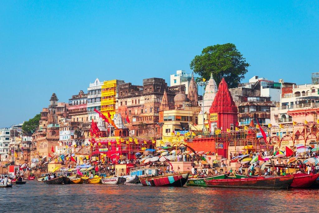 By the riverbank in Varanasi