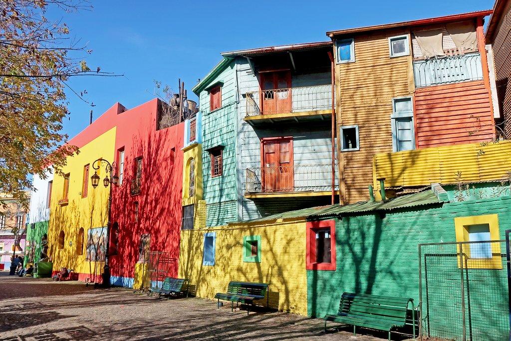 Colorful Houses in La Boca Neighborhood