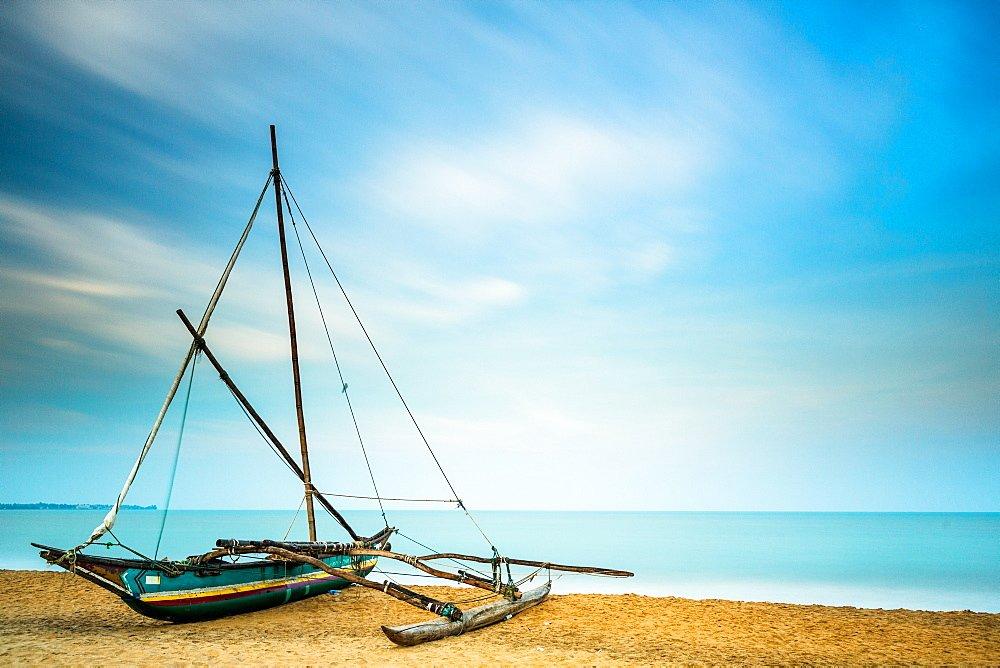 A Catamaran on Negombo Beach