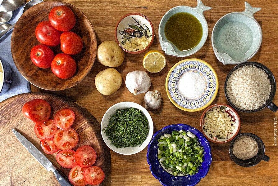 Santorini Local & Fresh Ingredients