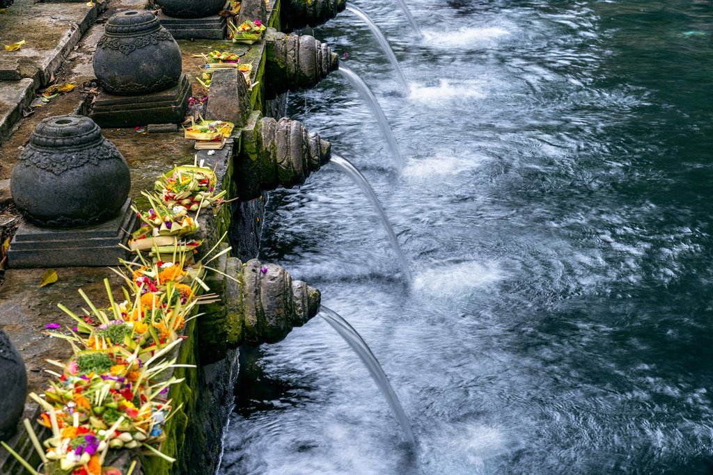 The holy springs in Tirta Empul are said to have magical properties