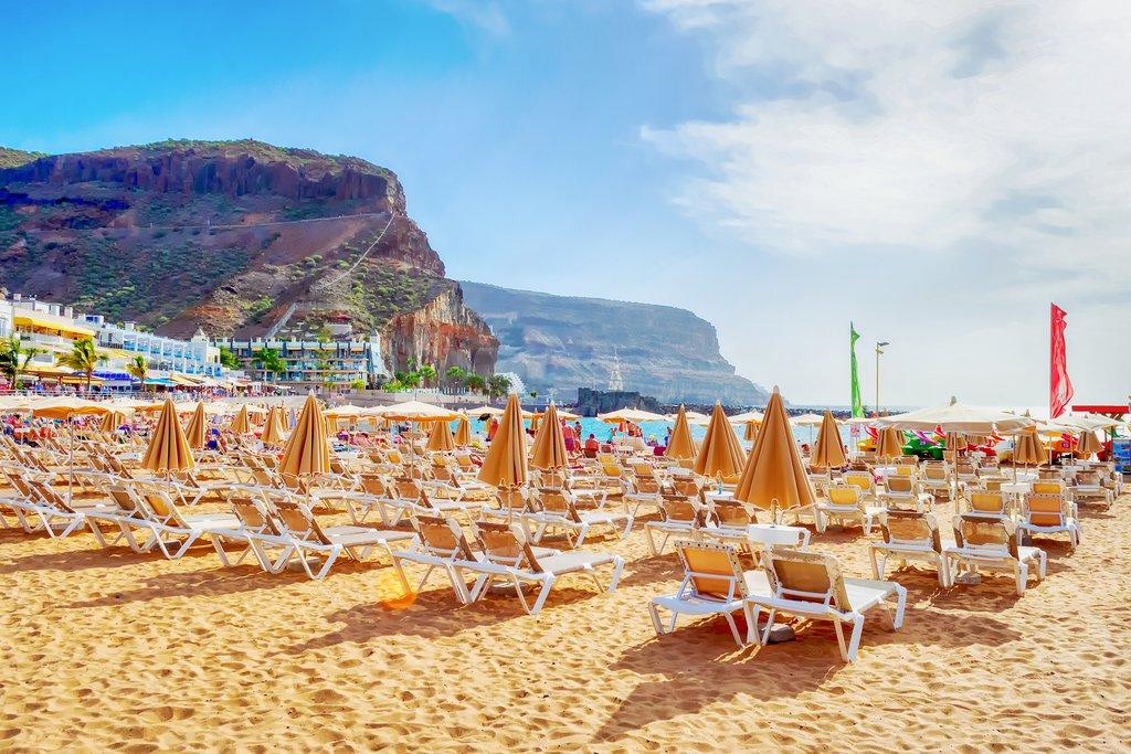 A beach in Gran Canaria, Spain