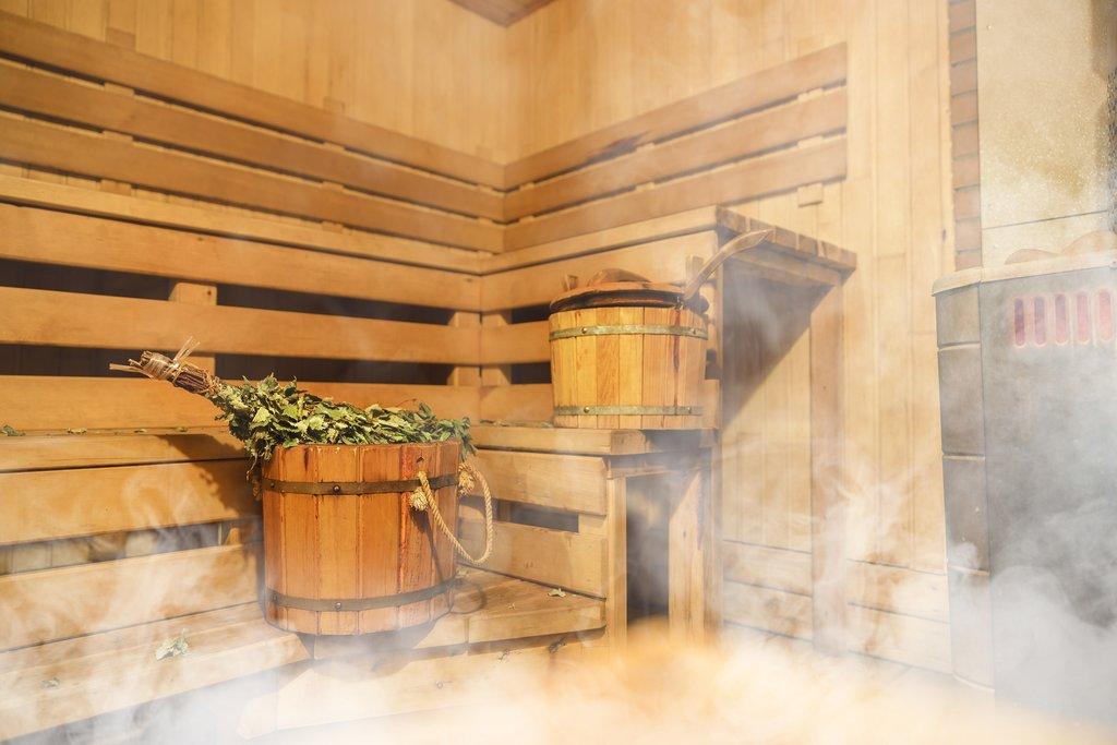 A traditional Finnish sauna