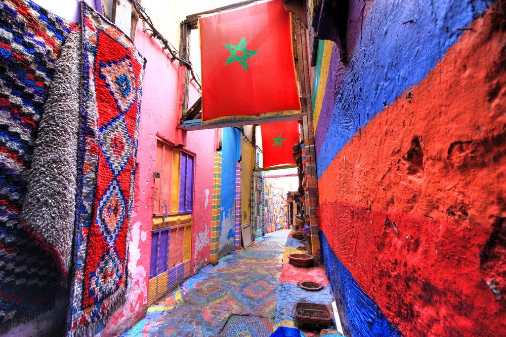 One of the many passageways of Fes el-Bali, the ancient medina of Fes