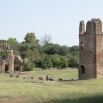 The ruins of Circus of Maxentius, on the Appian Way
