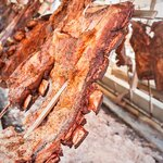 Enjoy a typical country asado for dinner