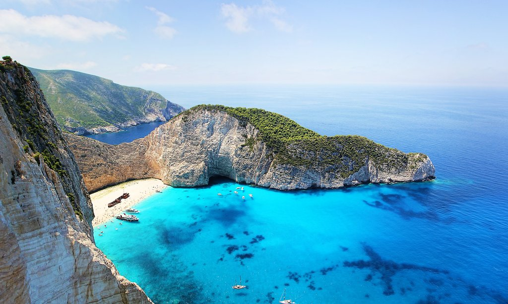 """Shipwreck Beach"" on Zakynthos (Photo courtesy of Pixabay)"