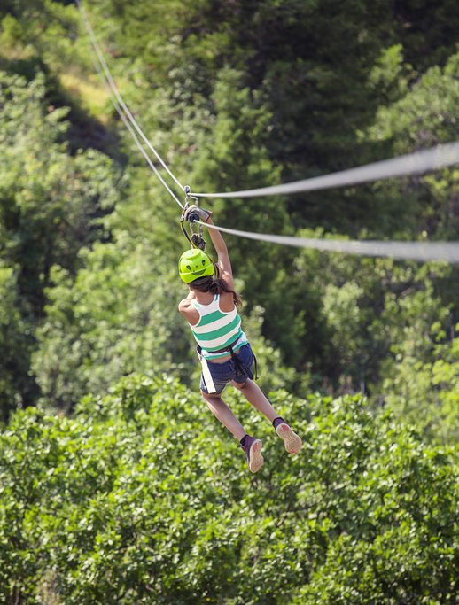 Zip-lining through the forest (optional add-on)