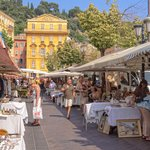 One of many open-air markets in Nice's old town, Vieille Ville