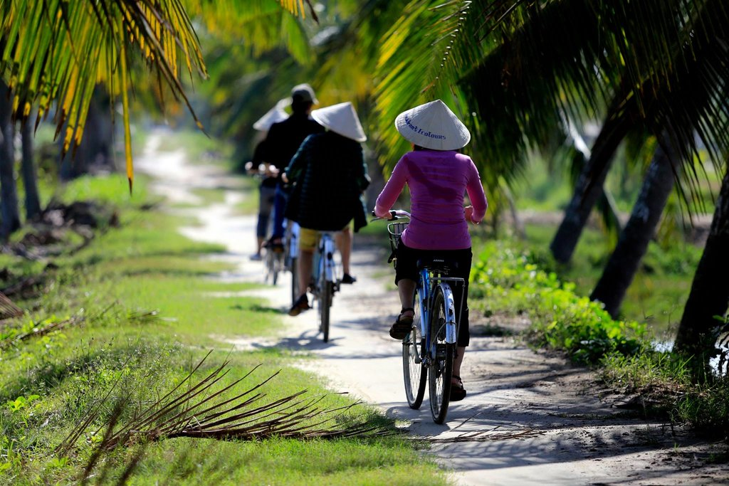 Enjoy a bicycle ride to traditional villages