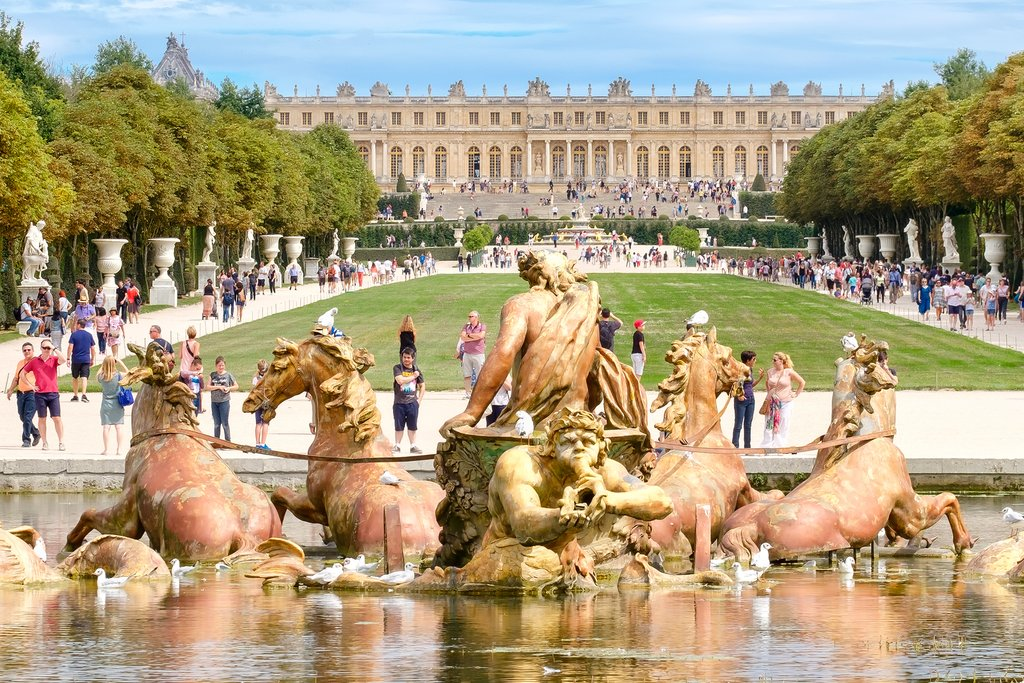 Famous Apollo Fountain in Versailles