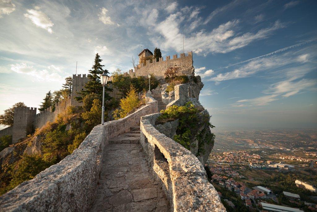 The climb to San Marino's Rocca della Guiata castle.