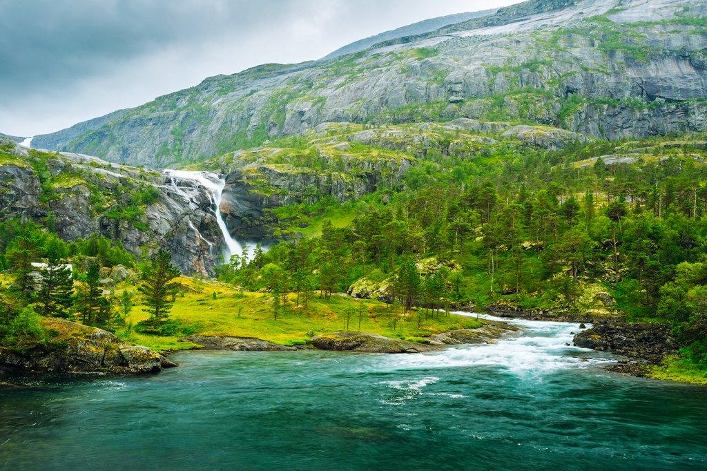 Waterfalls in the Husedalen Valley