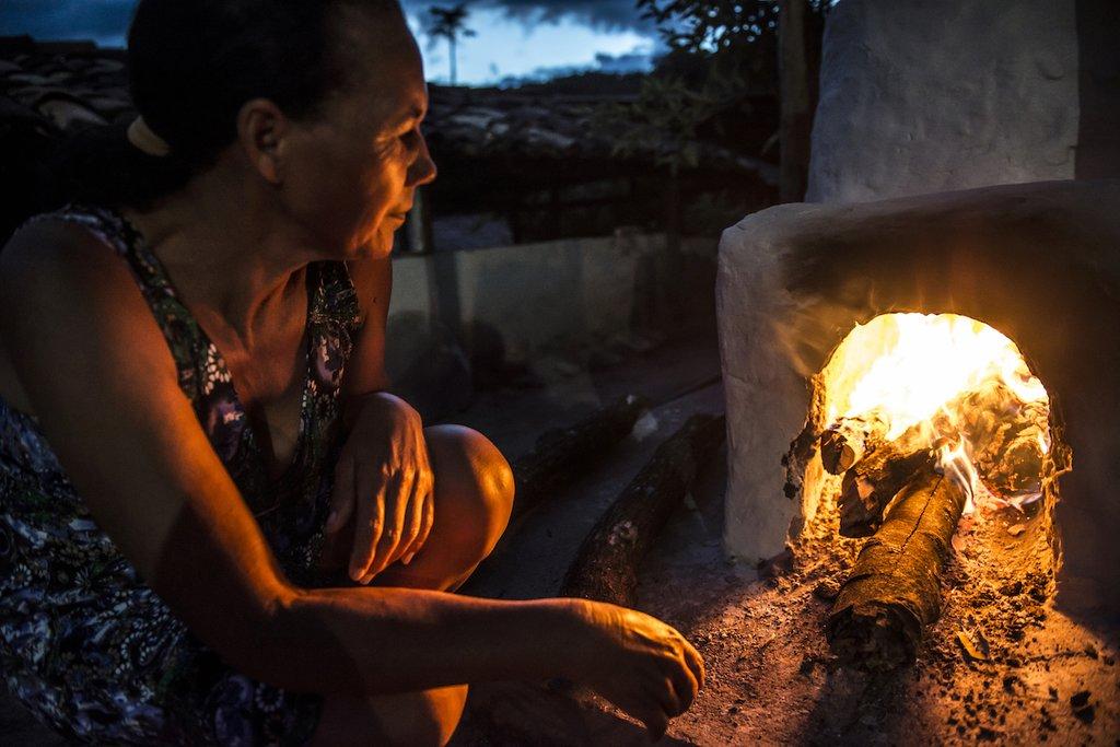 Woodfire oven at Campo Buriti