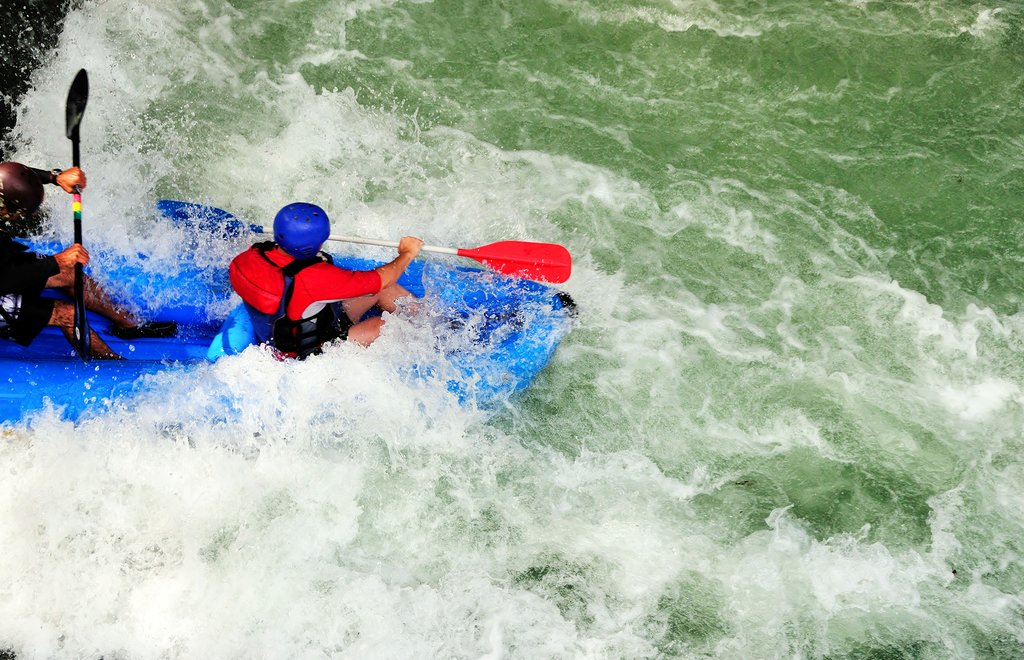 Whitewater rafting is a popular adventure sport in Costa Rica