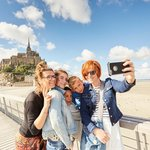 Selfie at the Mount St Michel