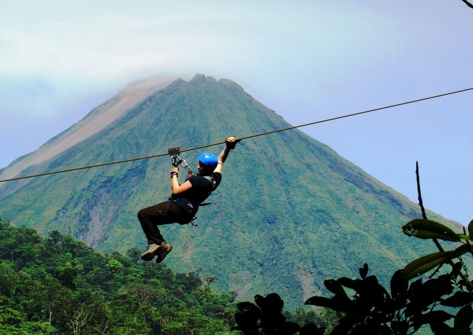 Zip-line adventure in Arenal