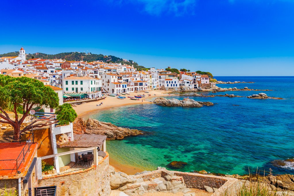 Sea landscape with Calella de Palafrugell, Catalonia, Spain near of Barcelona