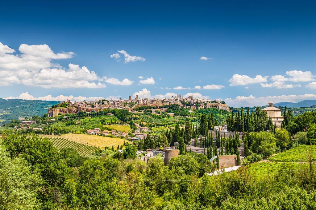 Orvieto, in Italy's wine region of Umbria