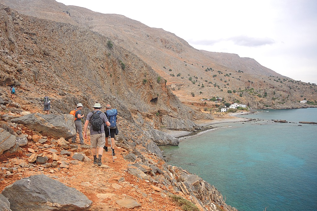 A trail along Crete's coast
