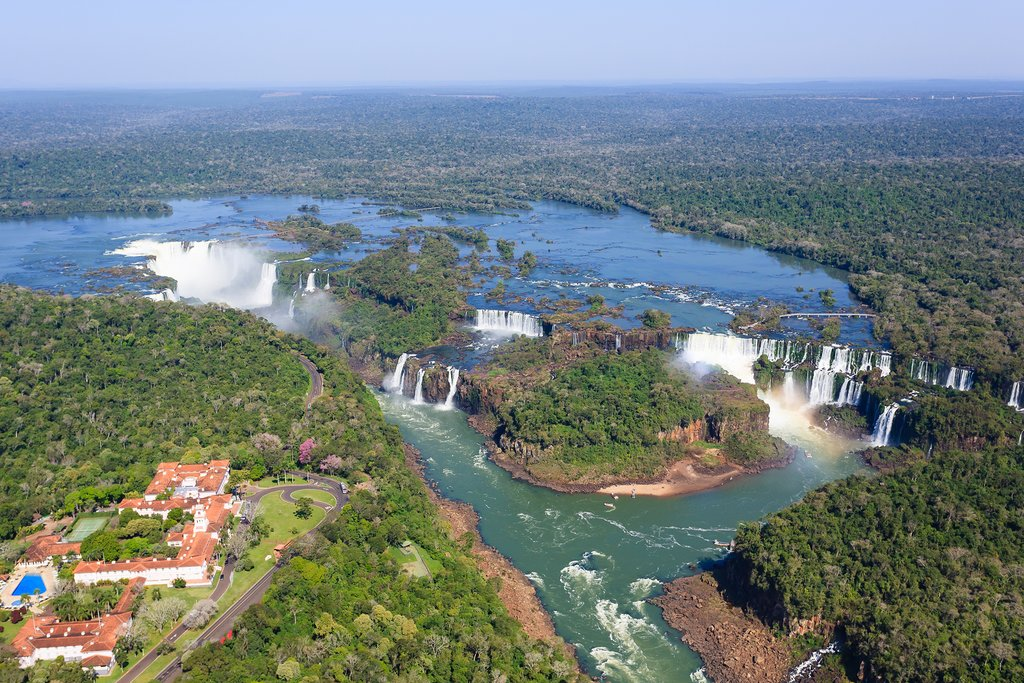 Aerial view of Iguazú Falls
