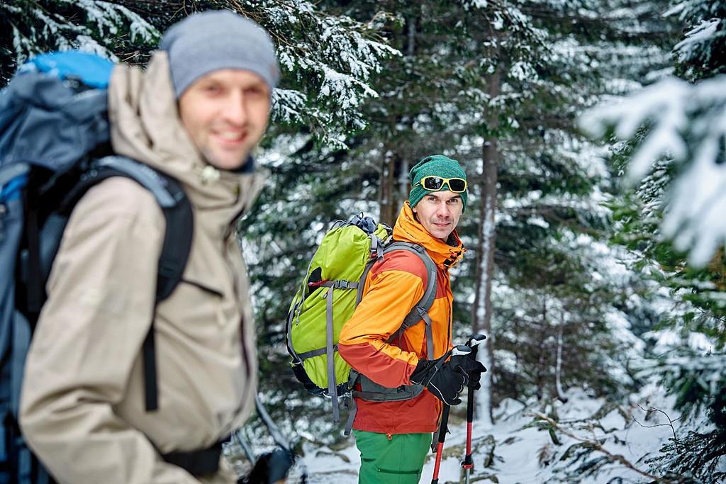 Winter hiking along the Nakasendo Trail.